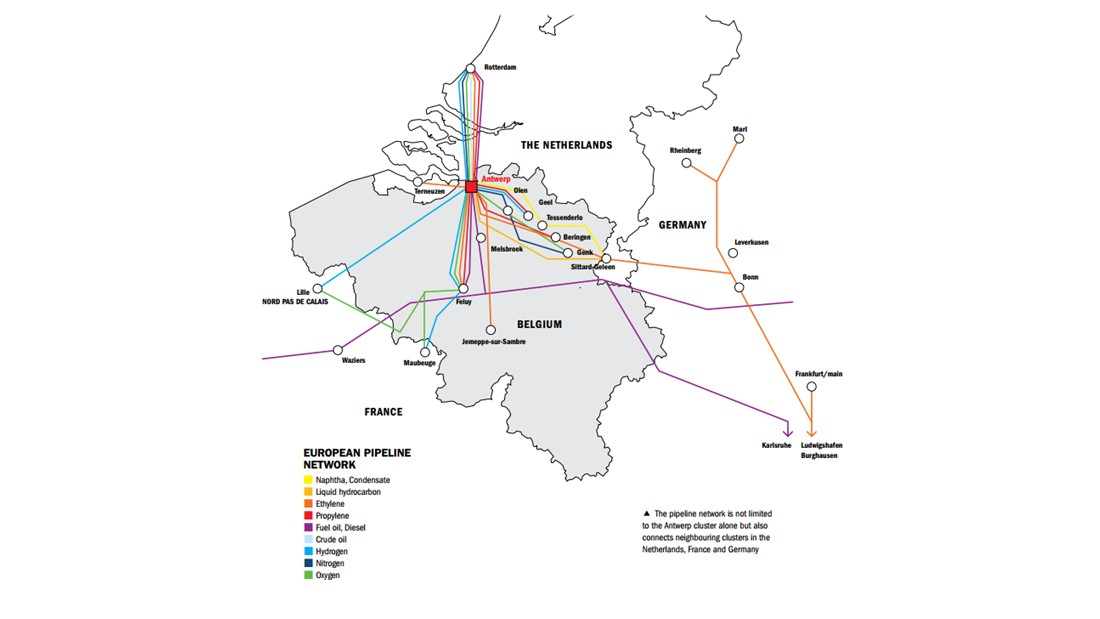 Map: The European pipeline network